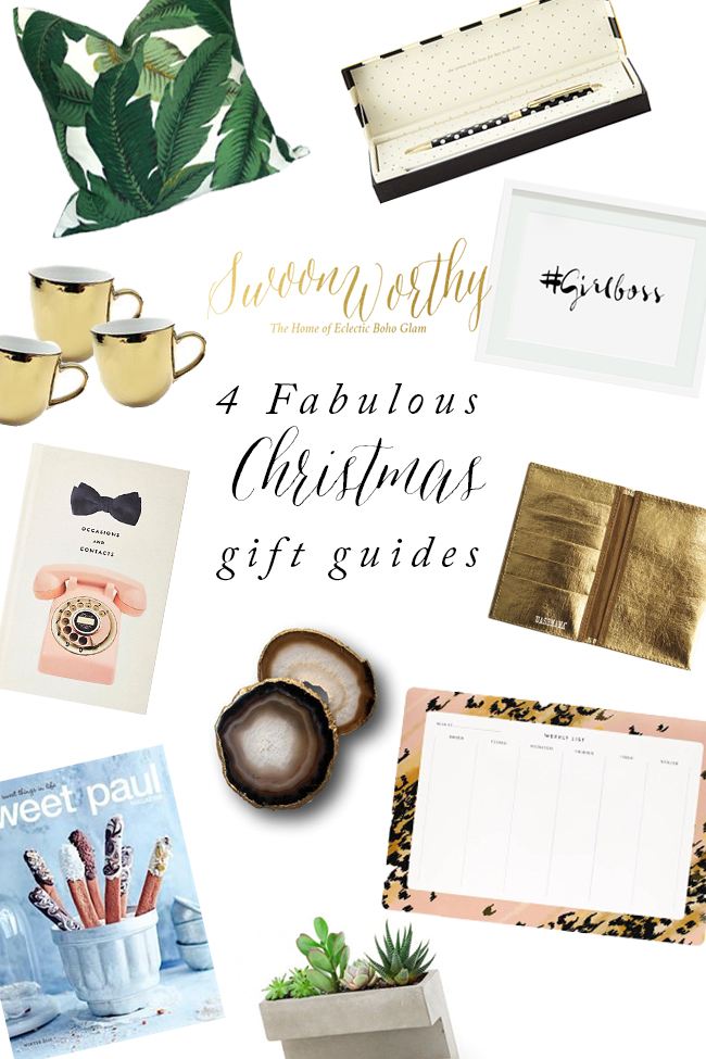 Swoon Worthy - 4 Fabulous Christmas Gift Guides