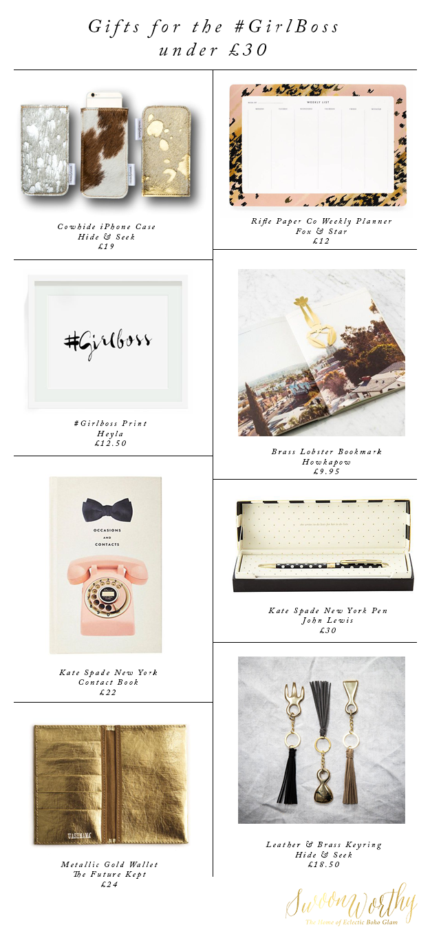Gifts for the GirlBoss - Christmas Gift Guide - Swoon Worthy