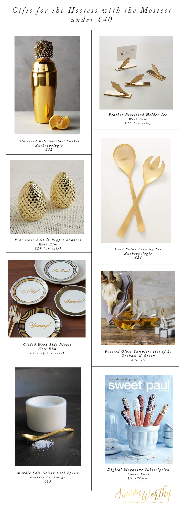 Gifts for the Hostess with the Mostess - Christmas Gift Guide - Swoon Worthy
