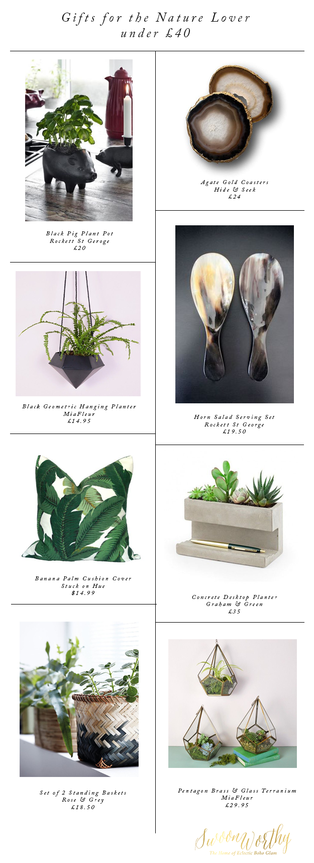 Gifts for the Nature Lover - Christmas Gift Guide - Swoon Worthy