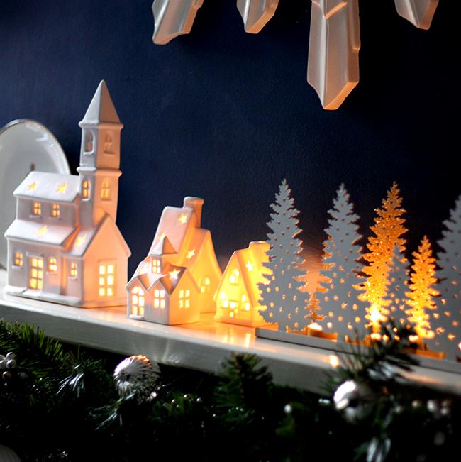 Christmas tealight village
