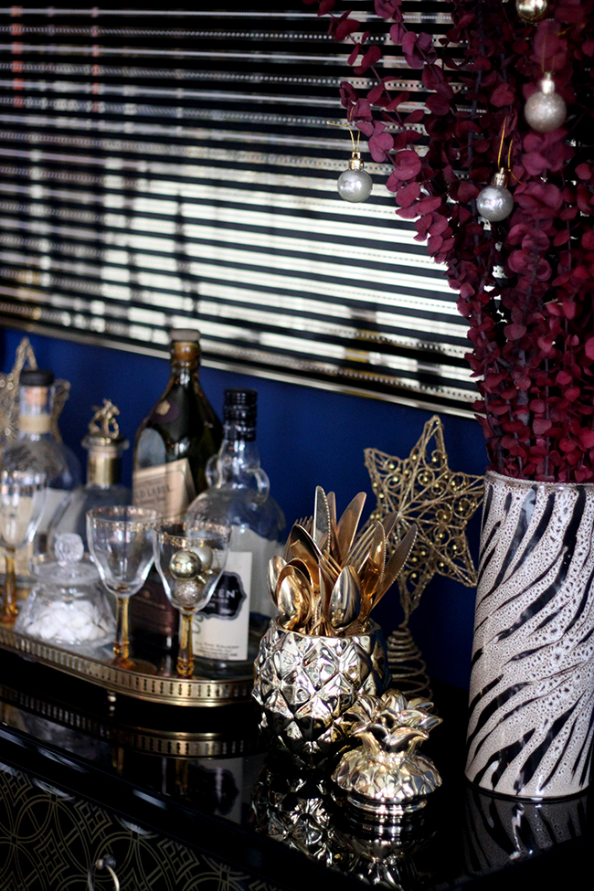 Swoon Worthy - Christmas Dining Room console table - see more at www.swoonworthy.co.uk