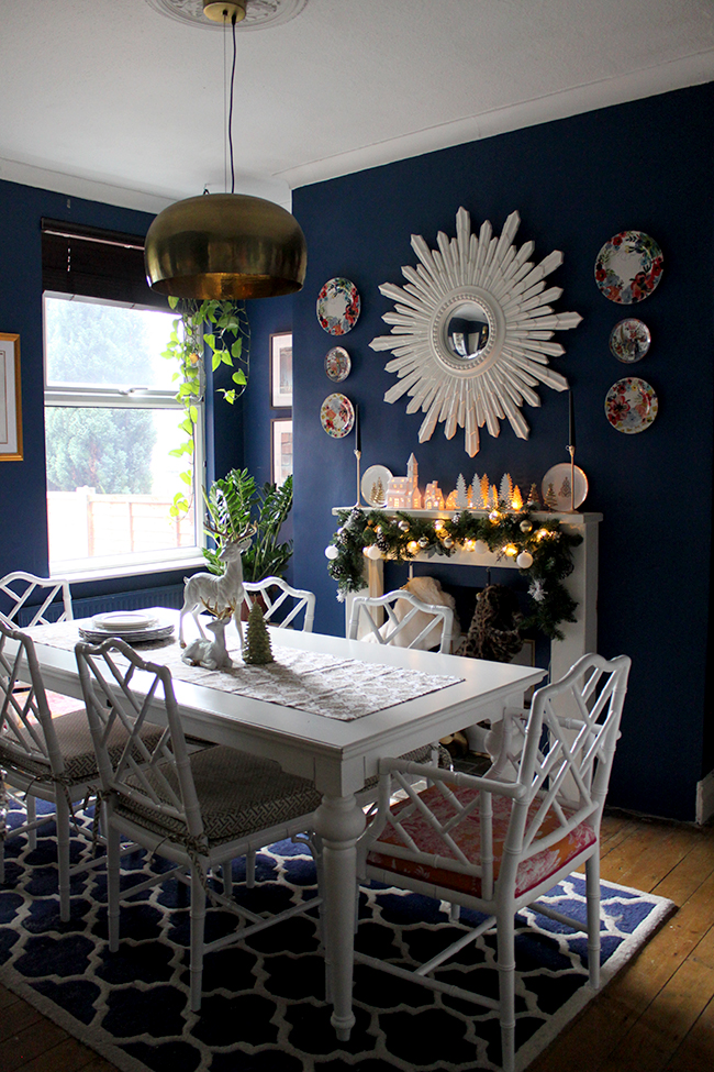 Swoon Worthy - Christmas Dining Room Table and Mantle - see more at www.swoonworthy.co.uk