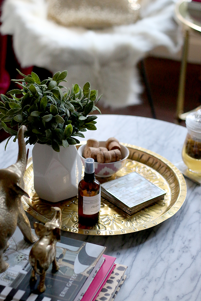 Swoon Worthy - Goals for 2016 - glass mug of tea on white marble coffee table