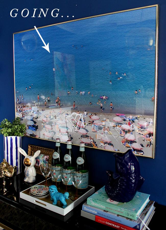 Framed beach print for sale