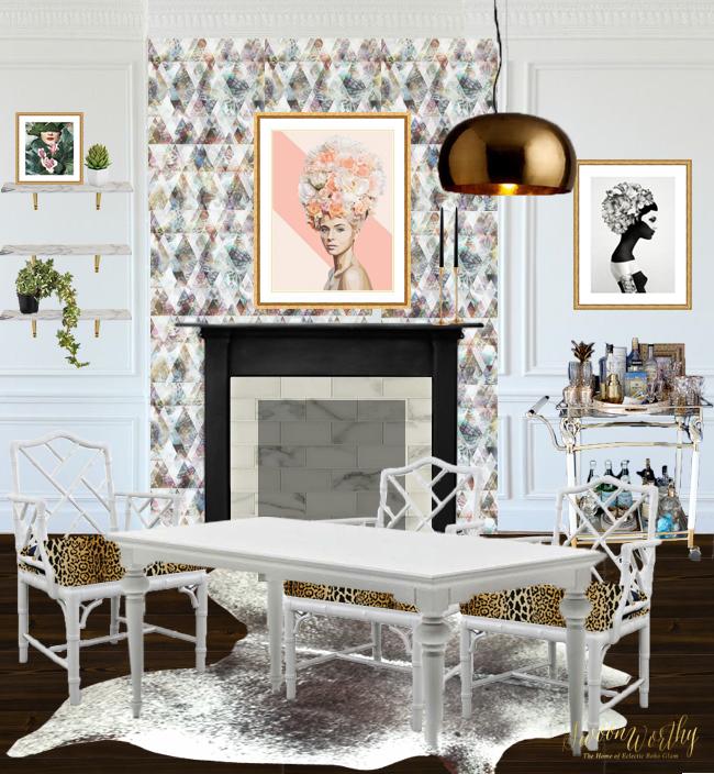 Dining Room Remodel: The Design Reveal! Eeek!