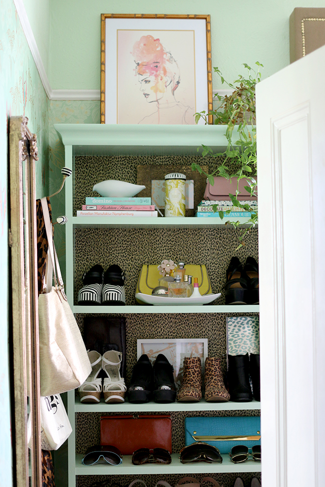 Swoon Worthy - Dressing Room Tour - Billy bookcases filled with shoes and bags