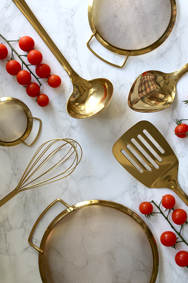 Gold Kitchen Utensils
