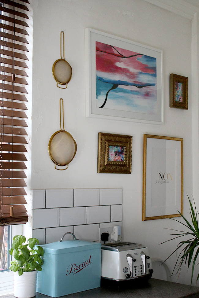 Gallery wall in the kitchen - www.swoonworthy.co.uk