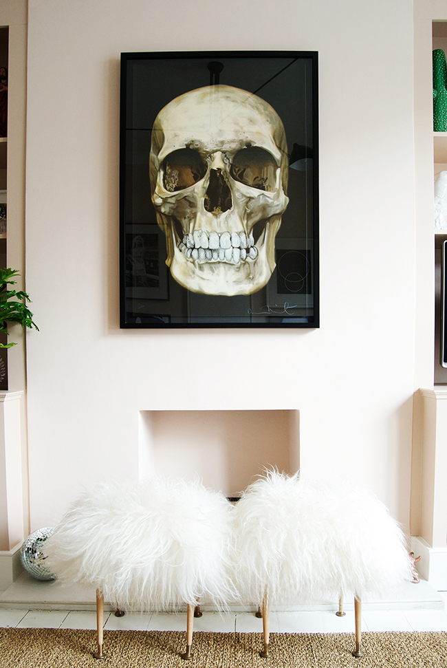 Bianca Hall Skull Print On Blush