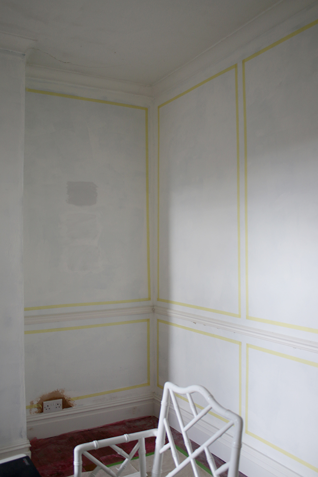 Planning the moulding in the dining room - www.swoonworthy.co.uk