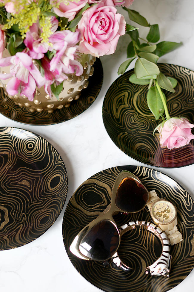 Jonathan Adler Knockoff DIY Malachite Coasters - see more at www.swoonworthy.co.uk