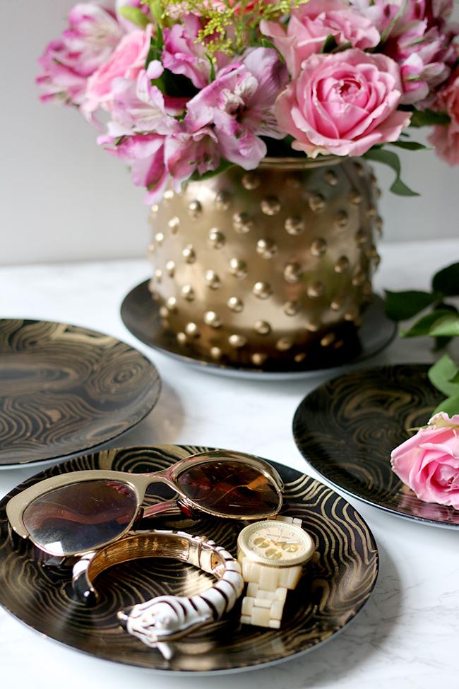 Jonathan Adler Knockoff DIY Malachite Coasters - see more at www.swoonworthy.co.uk