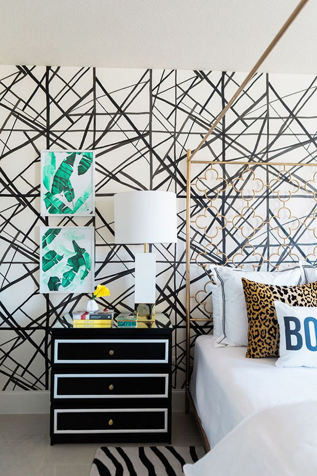Another great feature wall. Melane Johnson Photography for Domino