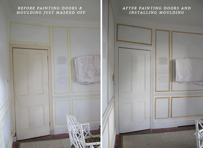 painted doors and moulding