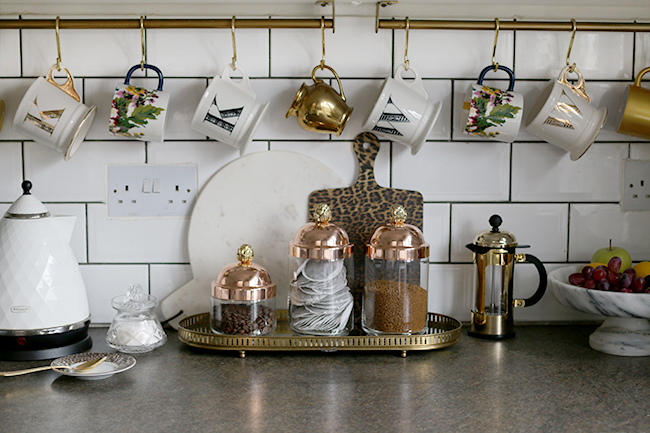 Ruffoni Glass and Copper Jars on my kitchen worktops