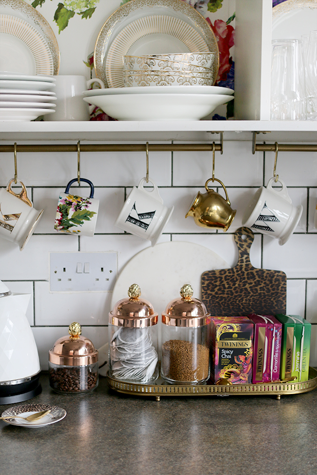 Ruffoni Glass and Copper Jars on my kitchen counter