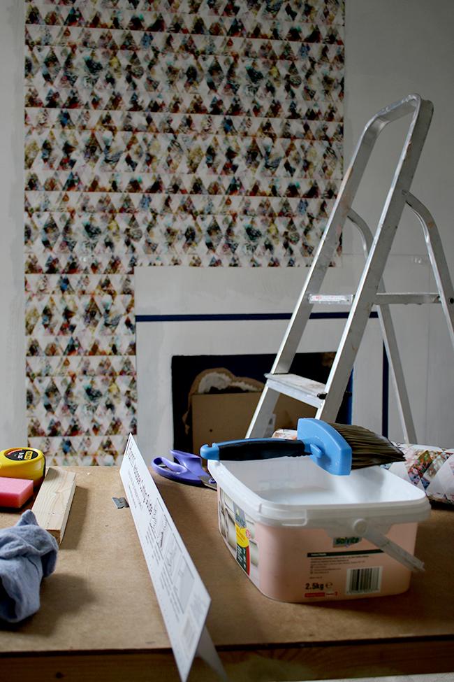 Wallpapering with Eades Bespoke wallpaper