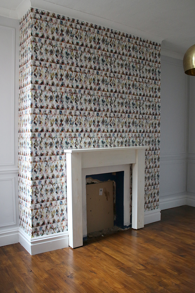 Wallpapering with Eades Bespoke wallpaper