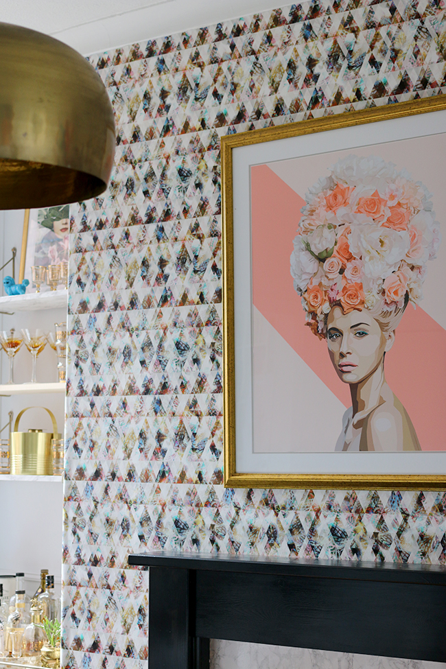 Dining room with graphic wallpaper - see more at www.swoonworthy.co.uk