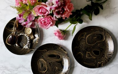 Jonathan Adler Malachite Coasters Knockoff DIY