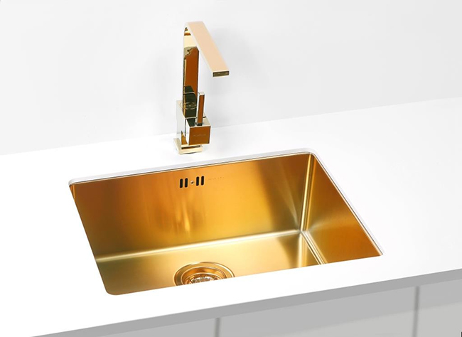 gold sink inset