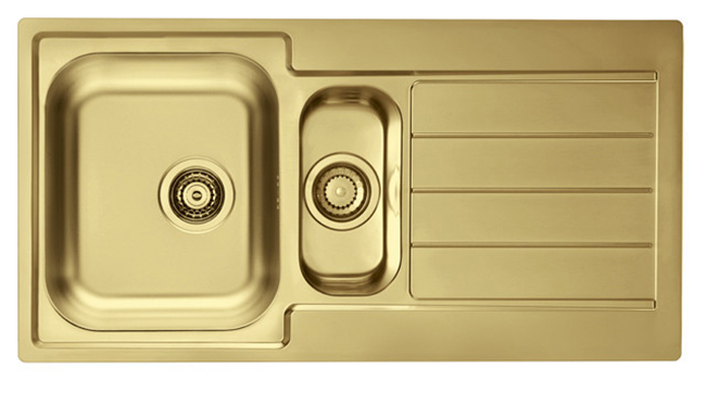 gold sink inset - see more on www.swoonworthy.co.uk