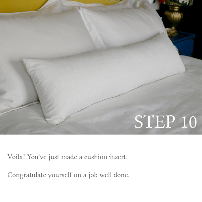 DIY Bolster Cushion Step 10