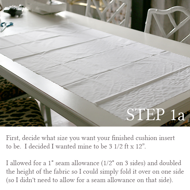 DIY Bolster Cushion Step 1a