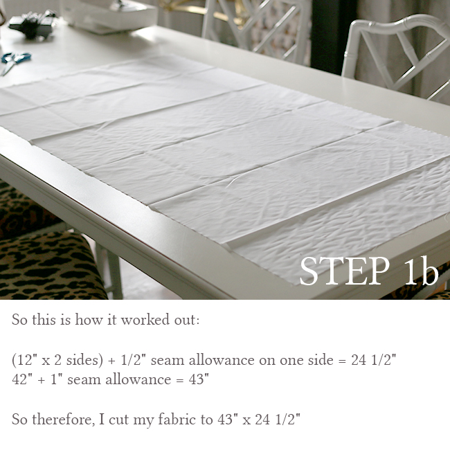 DIY Bolster Cushion Step 1b