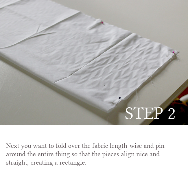 DIY Bolster Cushion Step 2