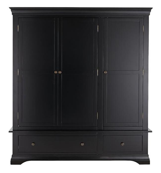 Constance 3 door wardrobe in black from Very