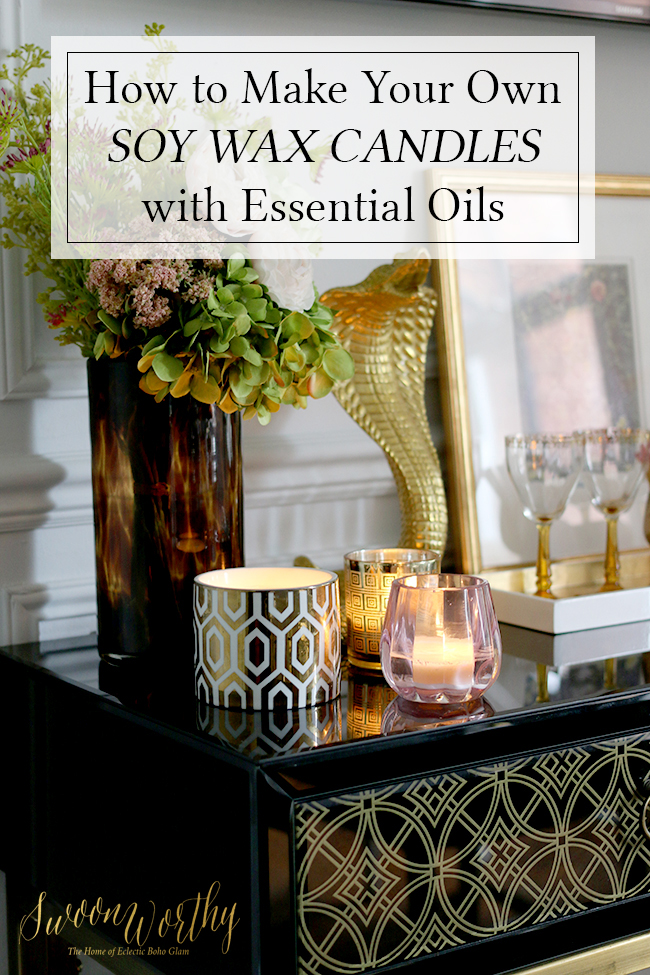 How to Make Your Own Soy Wax Candles with Essential Oils Video
