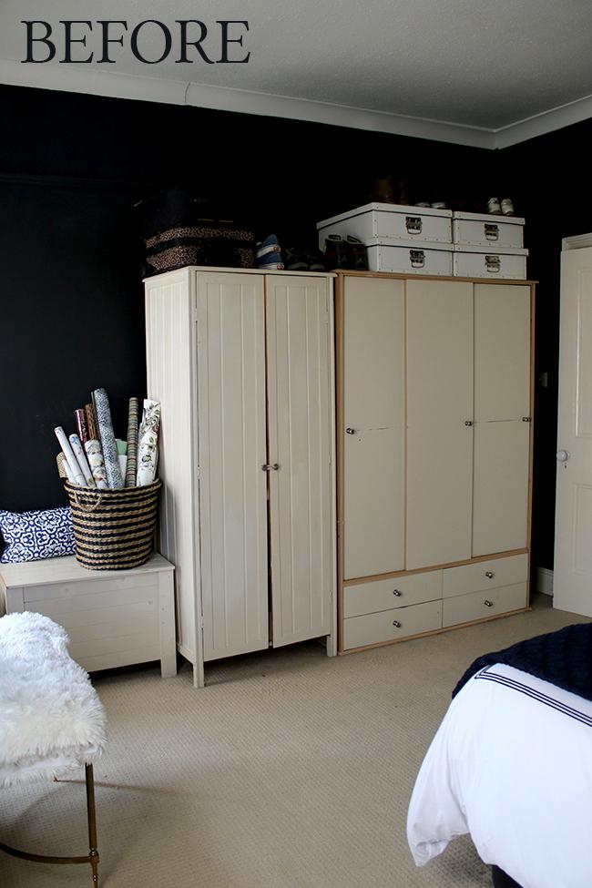 bedroom wardrobes before