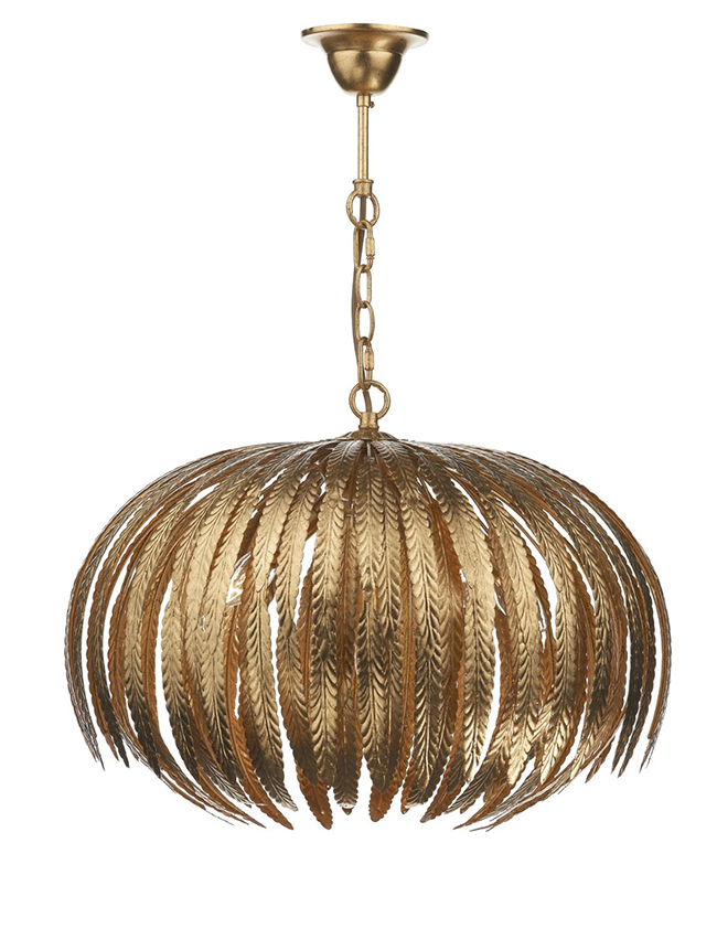 Atticus gold pendant light