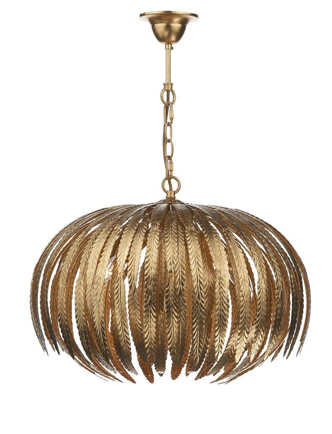Atticus gold pendant light