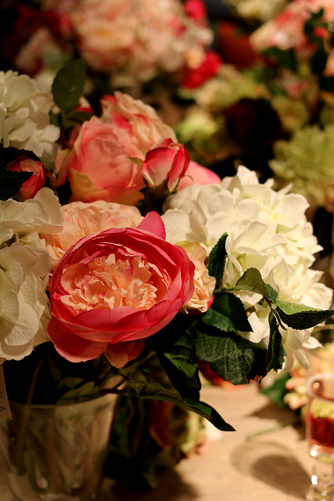 Faux flower arranging class at OKA Chelsea