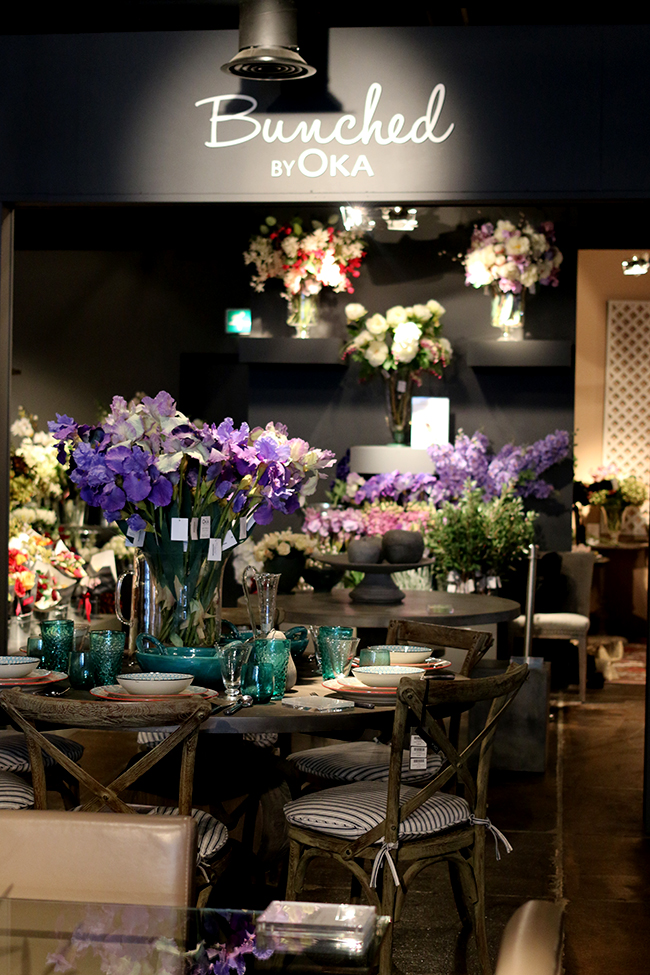 OKA Chelsea flagship store faux blooms