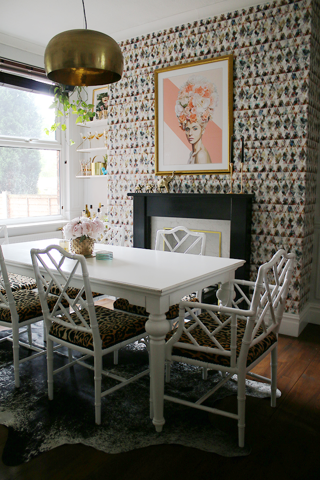 Summer dining room on Blogger Stylin' Home Tour