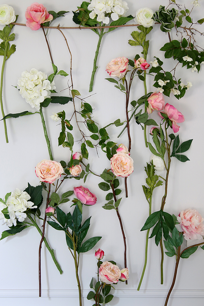 DIY Summer floral photo backdrop