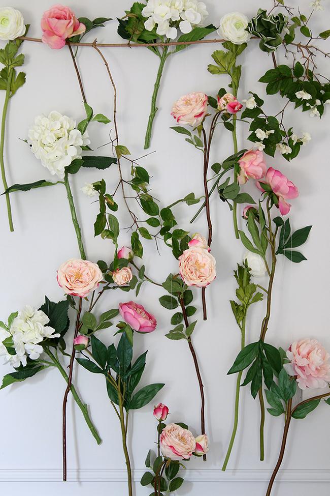 DIY Summer floral photo backdrop