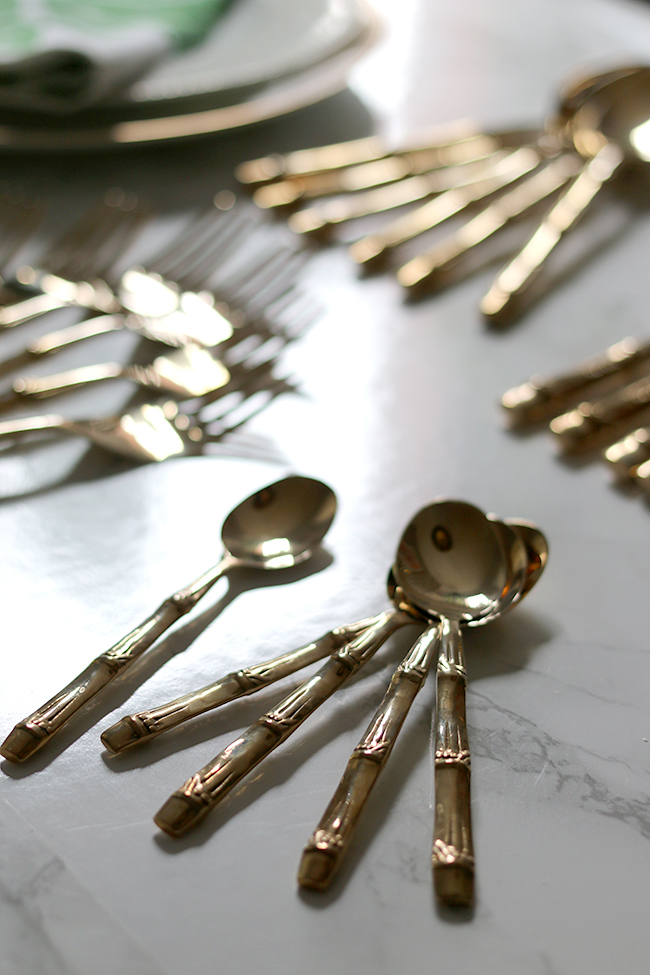 Gold Bamboo Cutlery