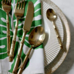 Pretty Utility: Gold Bamboo Cutlery