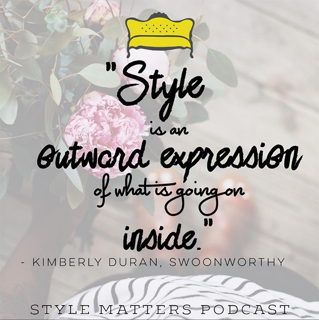 Style Matters: My Podcast with Little Yellow Coach