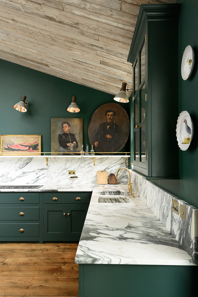 glamorous kitchen colors living room green | Two Beautiful Green Kitchens You HAVE to See - Swoon Worthy