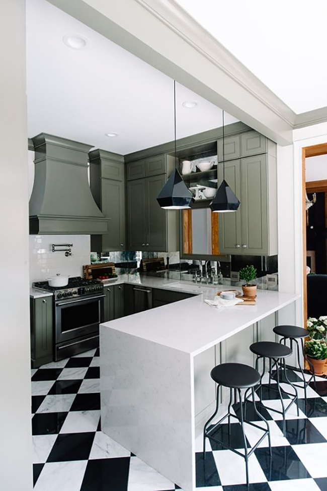 Gwen - The Makerista green kitchen