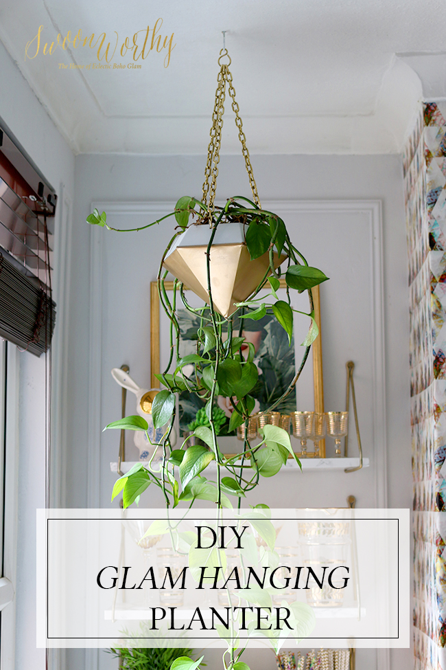 DIY Glam Hanging Planter