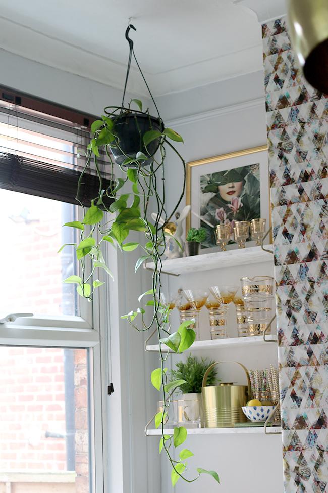 Old hanging planter