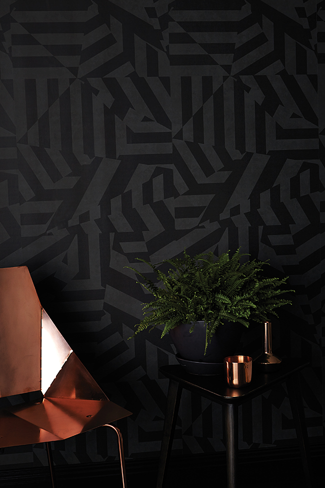 17 Patterns_ Dazzle Wallpaper_Charcoal