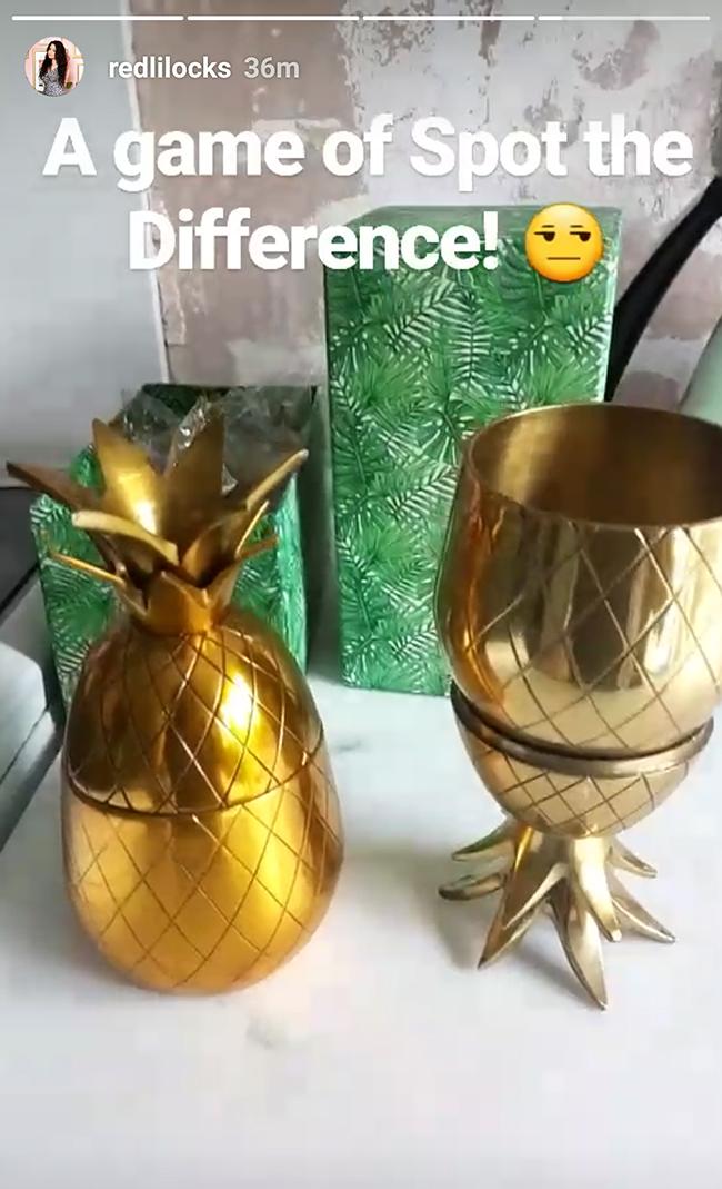 pineapple brass tumblers